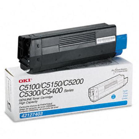 OKI 42127403 Original Cyan High Capacity Toner Cartridge