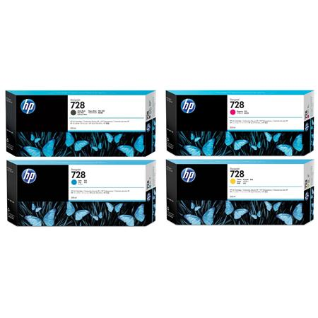 HP 728 Full Set High Capacity Original Inks