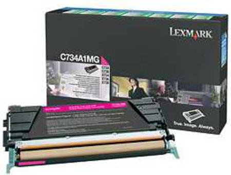 Lexmark C734A1MG Magenta Original Return Program Toner Cartridge