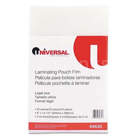 Clear Laminating Pouches 3 mil 9 x 14-1/2 25/Pack
