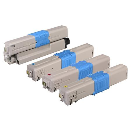 46508701/46508704 Full Set Remanufactured Toner Cartridges