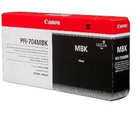 Canon PFI-704MBK Original Matte Black Ink Cartridge