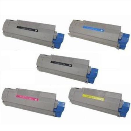 43324417//18/19/20 Full Set + 1 EXTRA Black Remanufactured Toner Cartridge