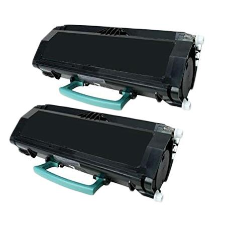 Lexmark E260A21A Black Remanufactured Toners Twin Pack