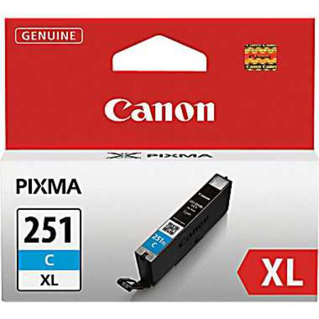 Canon CLI-251XL Cyan Original High Capacity Ink Cartridge