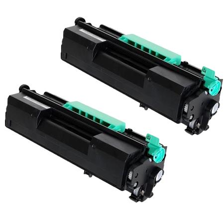407316 Black Remanufactured Toner Cartridge Twin Pack