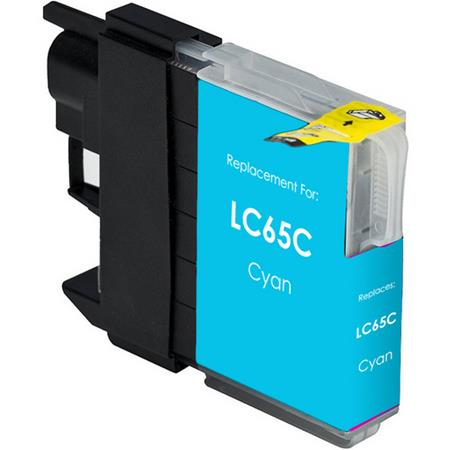 Brother LC65 Compatible High Yield Cyan Printer Ink Cartridge
