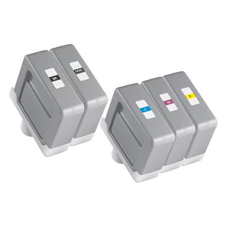 Compatible Multipack Canon PFI-307BK/MBK/C/M/Y Full Set Inkjet Cartridges
