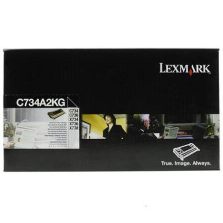 Lexmark C734A2KG Black Original Toner Cartridge