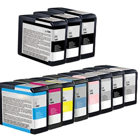 Compatible Multipack Epson T5801/T5809 Full Set + 2 EXTRA Black Ink Cartridges