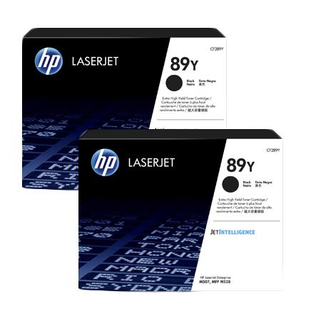 HP 89Y (CF289Y) Black Original Extra High Capacity Toner Cartridges Twin Pack