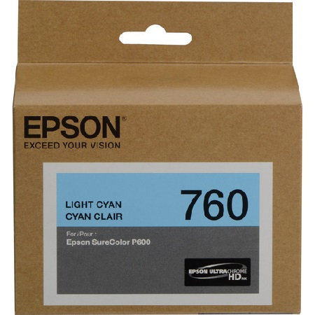 Epson T7605 (T760520) Light Cyan Original Ink Cartridge