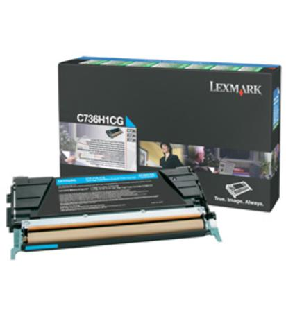 Lexmark C736H1CG Cyan Original High Yield Return Program Toner Cartridge