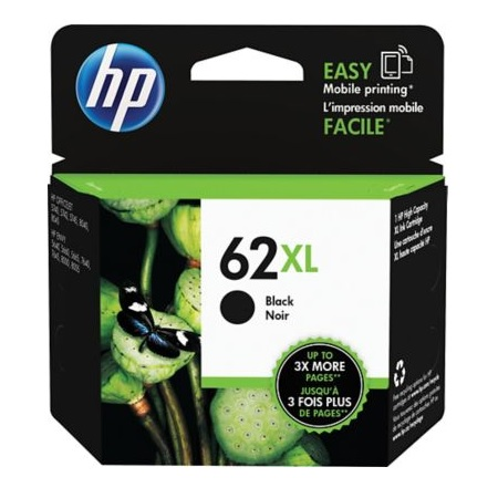 HP 62XL Black Original High Capacity Ink Cartridge (C2P05AN)
