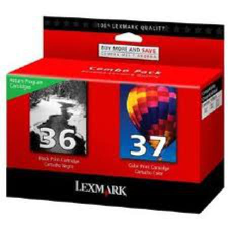 Lexmark Twin Pack No.36 and No.37 (18C2140) Original Black and Color Cartridges