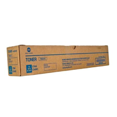 Konica Minolta TN-221C Cyan Original Toner Cartridge (A8K3430)