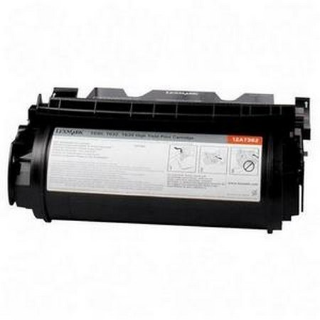 Lexmark 12A7362 Black Remanufactured Micr Toner Cartridge
