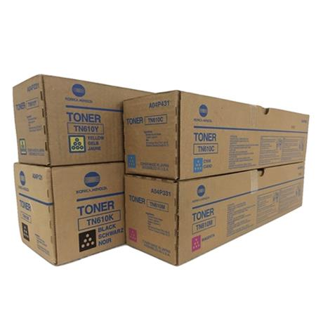 TN-610K/C/M/Y Full Set Original Toner Cartridges