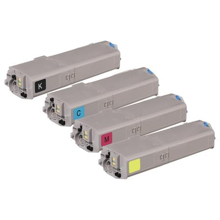 46490601/46490604 Full Set Remanufactured Toner Cartridges