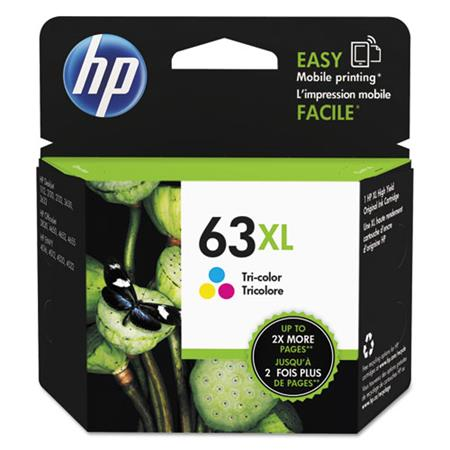 HP 63XL Color Original High Capacity Ink Cartridge (F6U63AN)