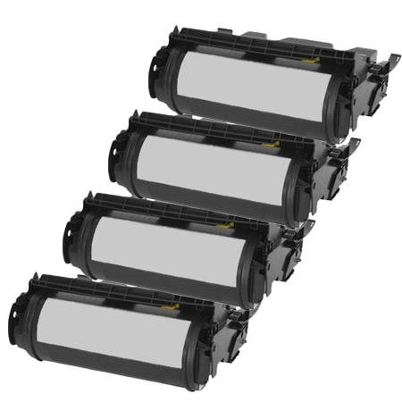 Compatible Quad Pack Black Dell 310-4132 Toner Cartridges