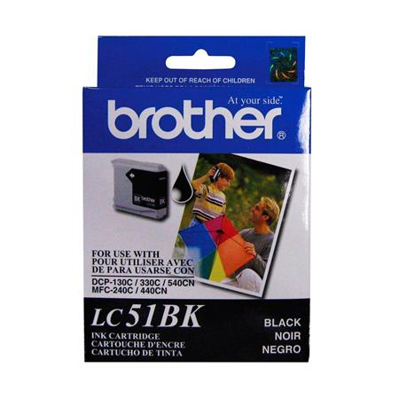 Brother LC51BK Black OEM Print Cartridge