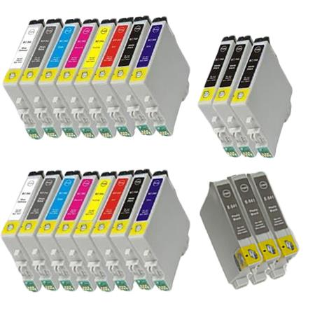 Compatible Multipack Epson T0541/T0549 2 Full Sets + 6 EXTRA Photo/Matte Black Ink Cartridges