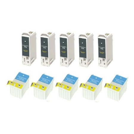 Compatible Multipack Epson T015/T016 5 Full Sets Ink Cartridges