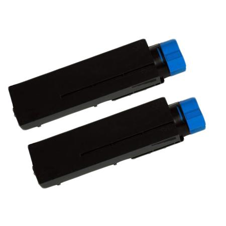 44574701 Black Remanufactured Toner Cartridge Twin Pack