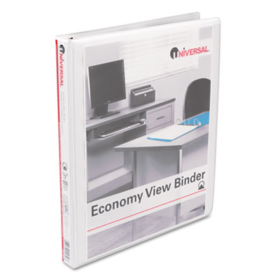 Round Ring Economy Vinyl View Binder 1/2Inch Capacity White
