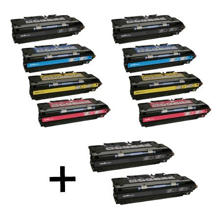 Q2670A/Q2681A/83A 2 Full Sets + 2 EXTRA Black Remanufactured Toner Cartridge