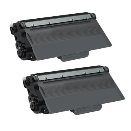 Compatible Twin Pack Brother TN750/TN720 Black Toner Cartridges