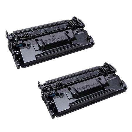 Compatible Twin Pack HP 87X Black High Yield Micr Toner Cartridge