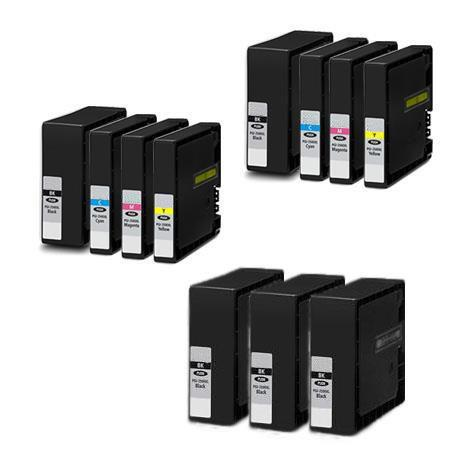 PGI-2200XL 2 Full Sets + 3 EXTRA Black Compatible Inks