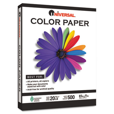Colored Paper  20lb  8-1/2 x 11  Goldenrod  500 Sheets/Ream