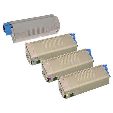 46507601/46507604 Full Set Remanufactured Toner Cartridges