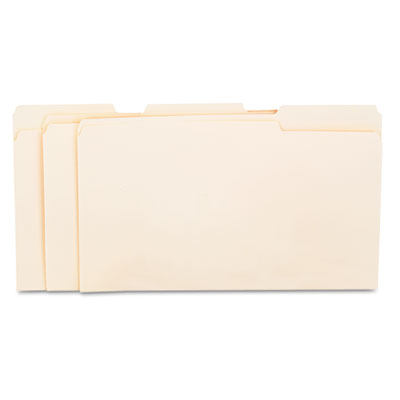 Universal File Folders  1/3 Cut Assorted  One-Ply Top Tab  Legal  Manila  100/Box