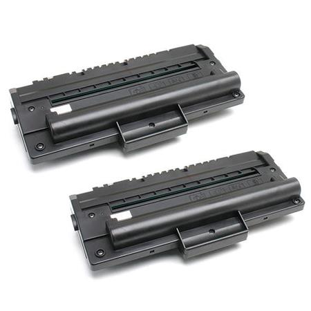 430477 Black Remanufactured Toner Cartridges Twin Pack