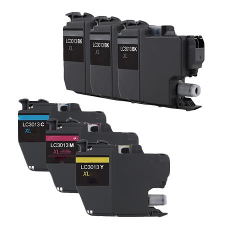 Clickinks LC3013BK/C/M/Y Full Sets + 2 EXTRA Black Compatible Ink
