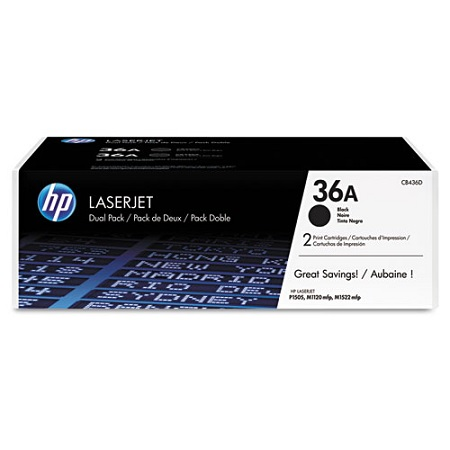 HP 36A Black Original Toner Cartridges (Twin Pack)