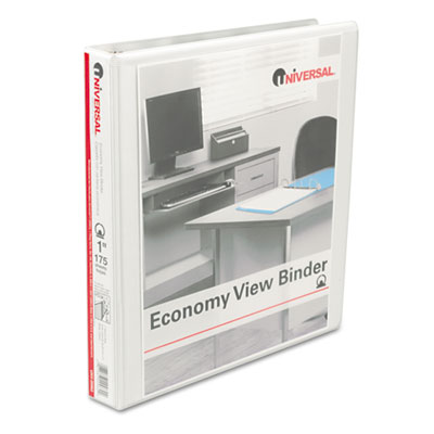Round Ring Economy Vinyl View Binder 1InchInch Capacity White