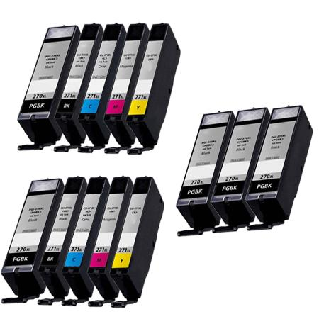 PGI-270XL/CLI-271XL PGBK/ BK/C/M/Y 2 Full Sets + 3 EXTRA Black Compatible Inks