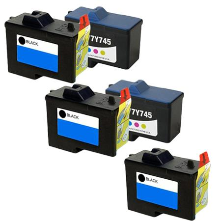 Clickinks 7Y743/7Y745 2 Full Set + 1 EXTRA Remanufactured Ink