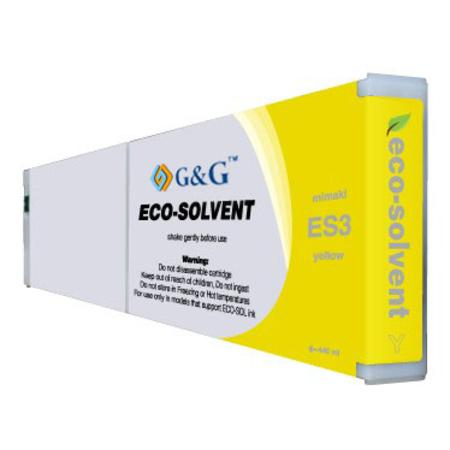 Mimaki ES3 Compatible Eco-Solvent Yellow Inkjet Cartridge