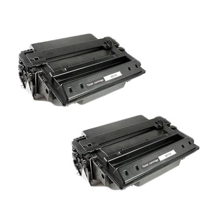 Compatible Twin Pack HP 11X Black Micr Toner Cartridges