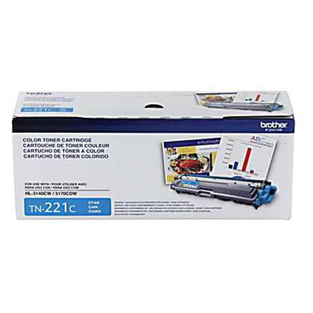 Brother TN221C Cyan Original Standard Capacity Toner Cartridge