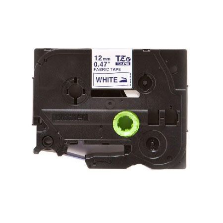 Brother TZeFA3 Original P-Touch Label Tape - 1/2 x 9.8 ft (12mm x 3m) Navy Blue on White