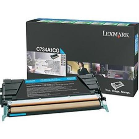 Lexmark C734A1CG Cyan Original Return Program Toner Cartridge