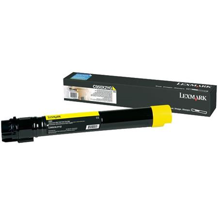 Lexmark C950X2YG Yellow Original Extra High Capacity Toner Cartridge