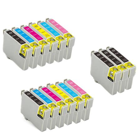 T0791/926 2 Full Set + 3 EXTRA Black Remanufactured Inks